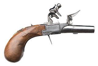 French Flintlock Pistol signed Manafac' de Versailles