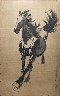 "Xu Beihong ""Galloping Horse"" Ink on Paper"