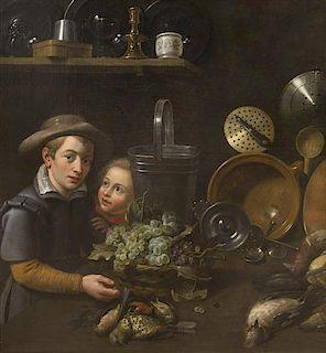 Dutch School, (17th century), Children in the Kitchen