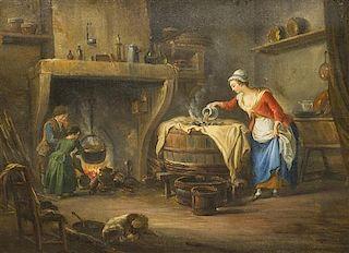 Jean-Baptiste Charpentier the Elder, (French, 1728-1806), Tending the Fire
