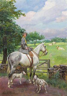 Wojciech Kossak, (Polish, 1856-1942), Woman on Horseback, 1930