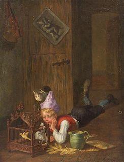 Joseph Gyselinckx, (Belgian, 1817-1884), Bird Watching, 1876