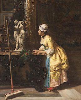 Luiz Alvarez Catala, (Spanish, 1836-1901), Le nettoyage interrompu, 1872