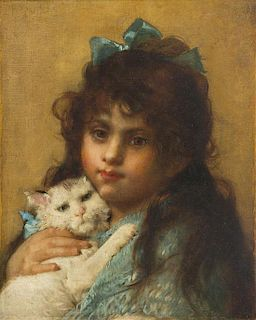 Leon Jean Basile Perrault, (French, 1832-1908), Le chat blanc