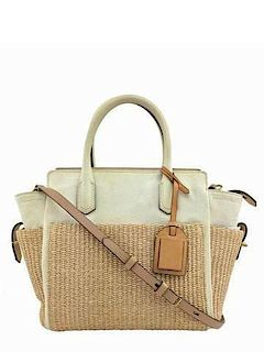 54be4bb6e115 Prada Distressed Leather Mink Fur Shopping Tote Bag by Consigned ...