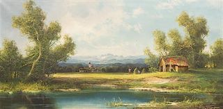 Hans Wagner, (Swiss, 1885-1949), In the Fields
