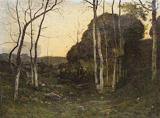 Henri Joseph Harpignies, (French, 1819-1916), Forest Landscape