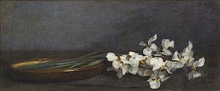 Henri Fantin-Latour, (French, 1836-1904), White Irises