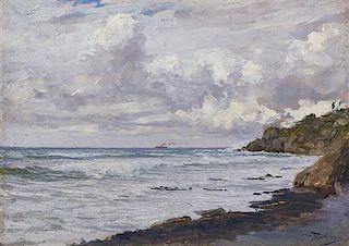 Giorgio Belloni, (Italian, 1861-1944), Seascape
