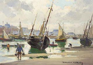 Edouard Leon Cortes, (French, 1882-1969), Harbor Scene