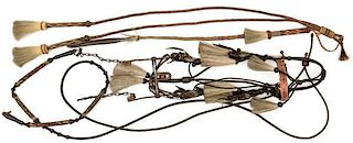 Horsehair Bridle and Reins from Rawlins, WY Prison PLUS Quirt and Whip