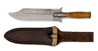 Model 1880 Type 1 Hunting Knife Clip Point Variation with Type 2 Scabbard
