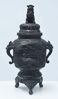 Asian patented bronze censer
