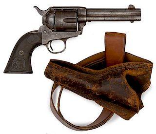 Colt Single Action Army Revolver in an Original Shoulder Holster
