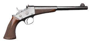 **Scarce Remington 1901 Target Rolling Block Pistol