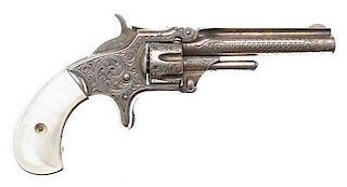 New York Engraved Smith and Wesson Model One Second Issue Spur Trigger Revolver