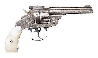 Deluxe Nimschke Profusely Engraved Smith and Wesson .44 Double-Action First Model Revolver
