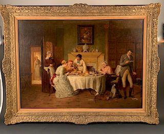 George Smith oil, (British 1829-1901)