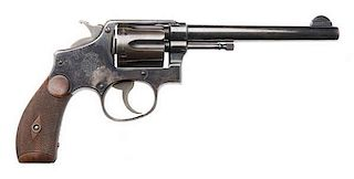 **Rare Smith and Wesson .38 Hand-Ejector M&P First Model Double-Action Martially-Marked U.S. Navy Model Revolver
