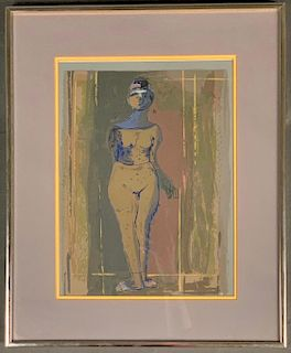Marino Marini Silkscreen, Standing Nude
