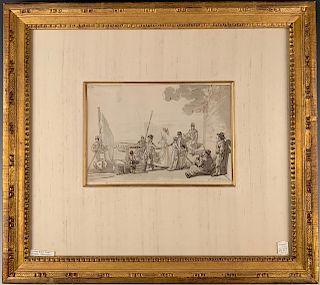 James Baker Pyne Drawing (British 1800-1870)