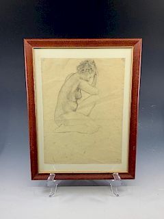Lawton Parker Drawing of a Female Nude