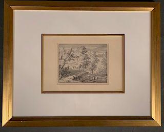 Allart(Albert) van Everdingen Etching