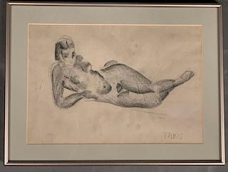 Nicholas Vassilakis Takis Drawing, Reclining Nude