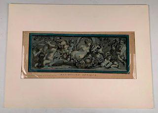 Laurent Guyot Aquatint, Bas Relief Antique
