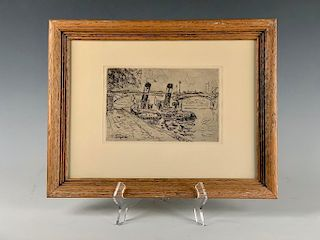 Paul Signac Etching