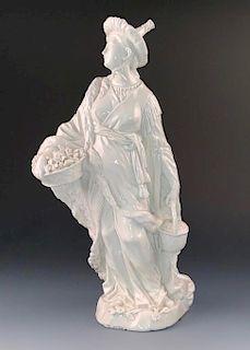 Sitzendorf Porcelain Blanc de Chine Chinoiserie Figure