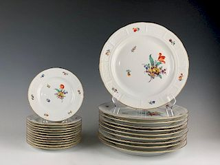 Grouping of Nymphenburg Porcelain Plates