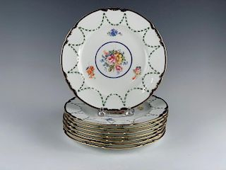 Eight Royal Crown Derby Salad Plates