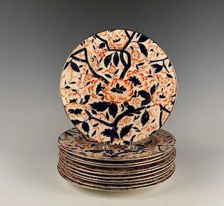Eleven English Imari Plates