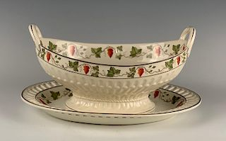 Wedgwood Creamware Basket on Stand