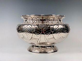 An Imperial Silver Bowl by By Hirata Shigemitsu VII