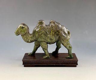 A Carved Hardstone Camel Figure