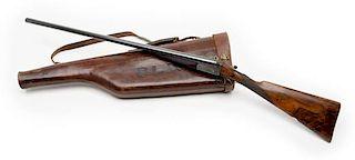 Thos. Adsett and Son, Guilford, England Made Double -Barrel Boxlock Shotgun