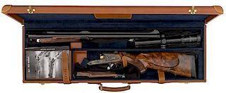 **Custom Finely Engraved Deluxe Blaser 500 Nitro Double Rifle
