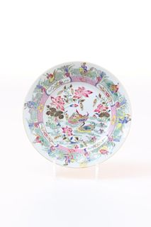 FAMILLE ROSE (EIGHT IMMORTALS) LOTUS DISH