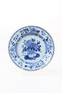 BLUE AND WHITE PORCELAIN DISH