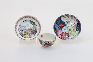 FAMILLE ROSE CHINESE PORCELAIN EXPORT WARE SET