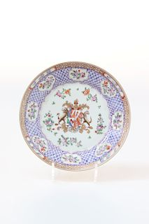 A CHINESE FAMILLE ROSE EXPORT DISH
