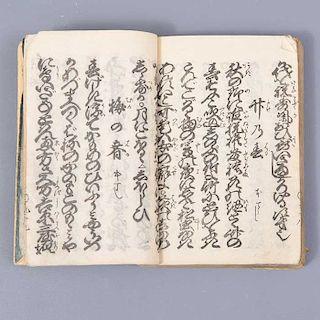 Título: Shinzo agatsuma shirabe. Japón. Periodo: Edo, 1861. Tinta sobre papel japonés. Recopilación de ilustraciones y escritos.