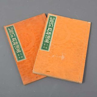 Autor: Ogata Gekko. Título: Irohabiki Gekko. Manga vol. 5 y 3. Período: Meijiera (1902). Publicado: Touyoudou. Tinta sobre...