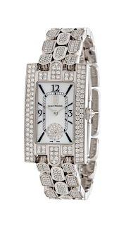 An 18 Karat White Gold and Diamond Ref. 310LQW 'Avenue' Wristwatch, Harry Winston,