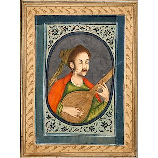 INDIAN ILLUSTRATION OF A MUSICIAN