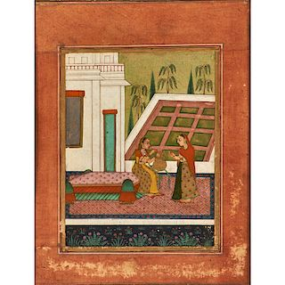 THREE INDIAN MANUSCRIPT PAGES