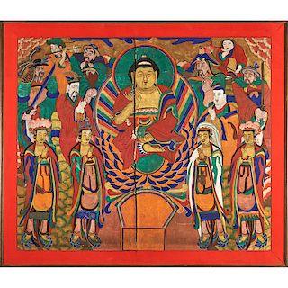 19TH C. KOREAN BUDDHIST PAINTING