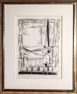 "Lyonel Feininger ""Gelmerode"" Woodcut Circa 1920"